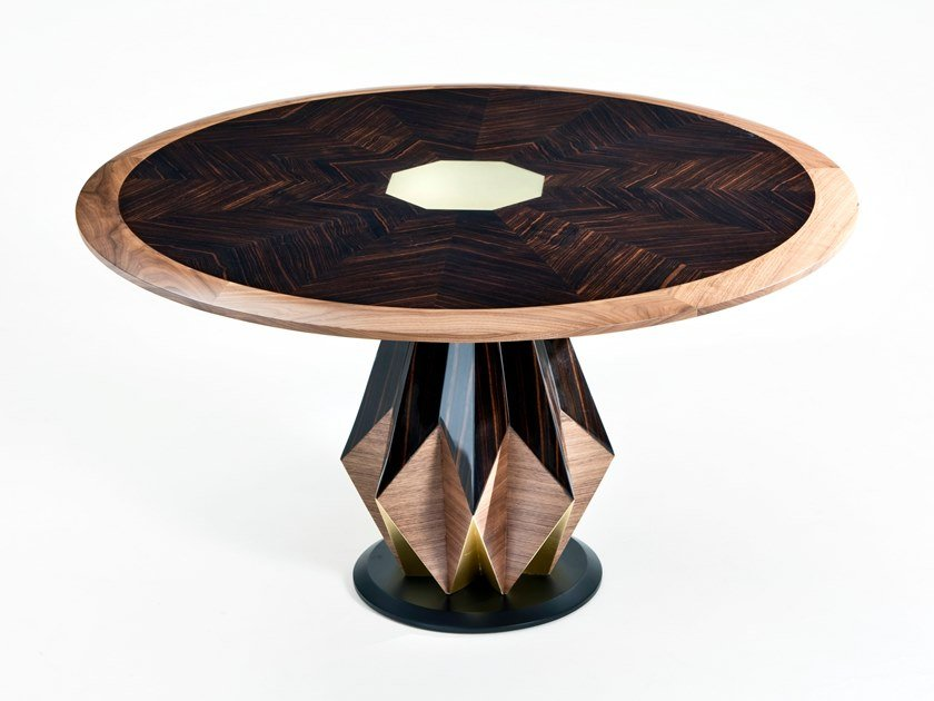 Round ebony table ANICE by Rozzoni
