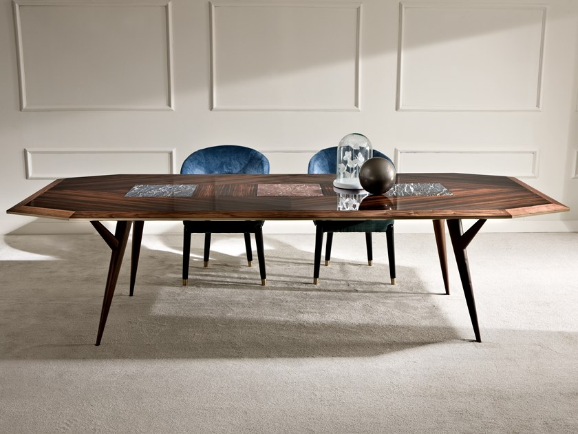 Rectangular ebony table NEROLI by Rozzoni