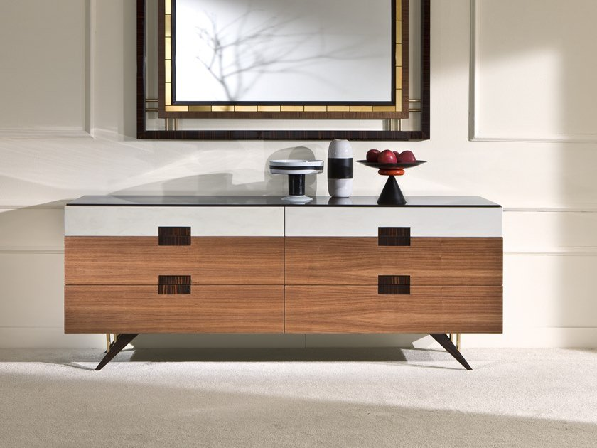 Walnut sideboard with drawers BENZOINO by Rozzoni