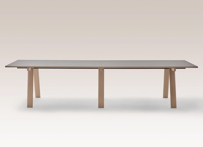 Rectangular table AMBROSIANO 2322 modular by Zanotta