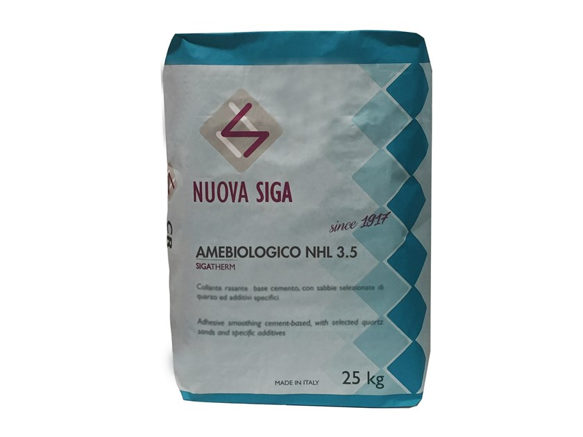 Hydraulic and hydrated lime based plaster / Natural plaster for sustainable building AMEBIOLOGICO NHL 3.5 by NUOVA SIGA