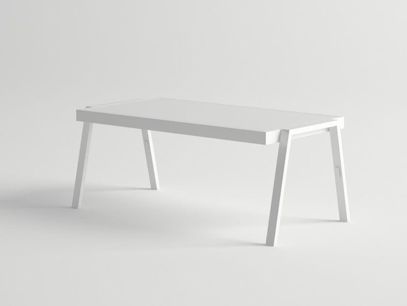 Low rectangular aluminium coffee table AMELIA | Coffee table by 10Deka