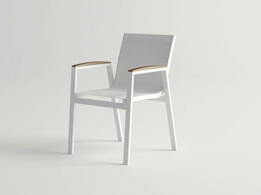 Aluminium garden chair with armrests AMELIA | Garden chair by 10Deka