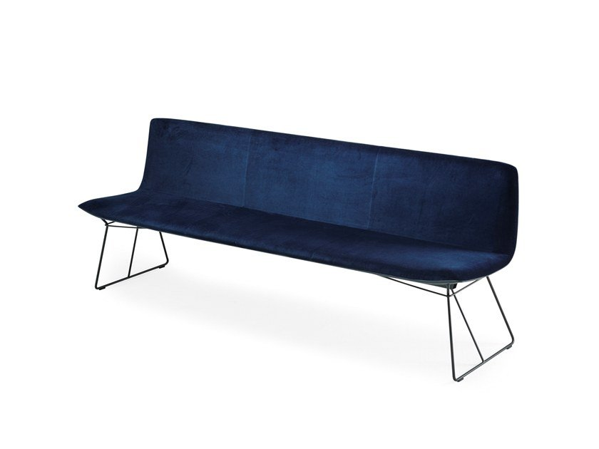 Fabric bench with back AMELIE BENCH by Freifrau