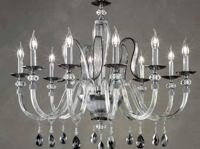 Lampadario in cristallo con cristalli Swarovski® AMELIE L10 by Euroluce Lampadari
