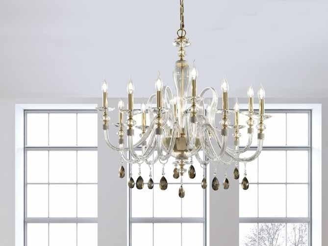 Crystal chandelier with Swarovski® Crystals AMELIE L8+4 by Euroluce Lampadari