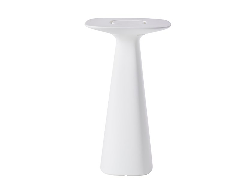Square polyethylene high table AMÉLIE UP by SLIDE