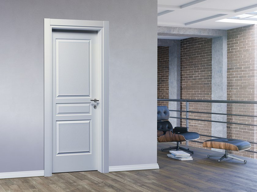 Hinged lacquered door AMERICA by DIERRE