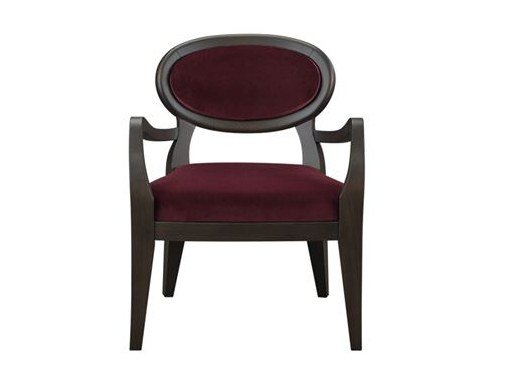 Medallion fabric easy chair with armrests AMINA | Fabric easy chair by Promemoria