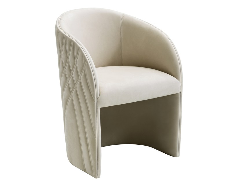 Leather easy chair with armrests AMIRA | Leather easy chair by Smania