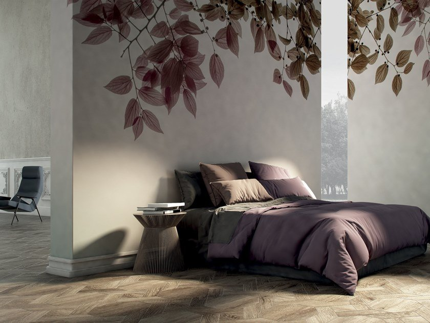 Wallpaper with floral pattern AMOUR by GLAMORA