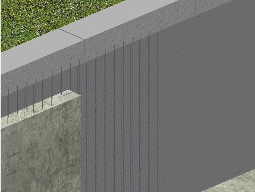 Sheaths for foundation and earth retaining wall AMPHIBIA™ WITH DIAPHRAGM WALL by Volteco