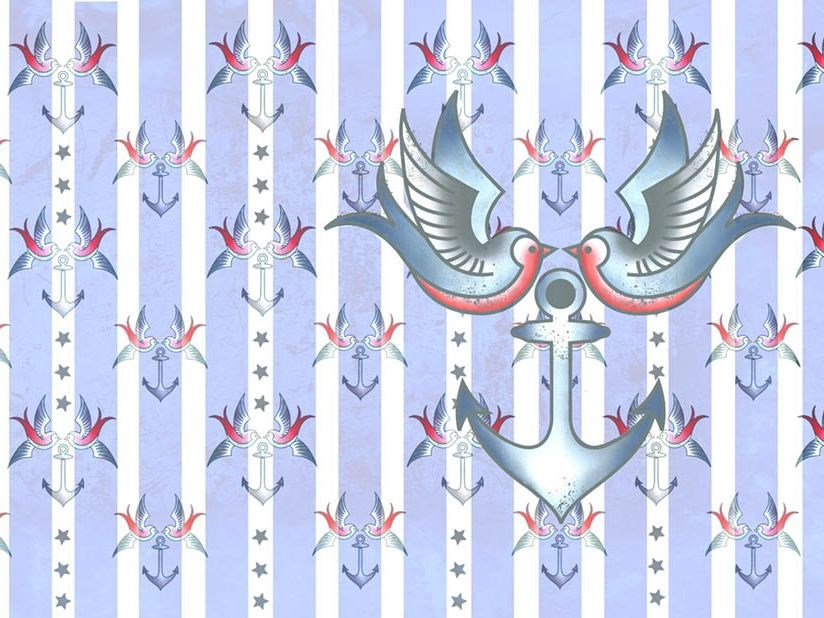 Wallpaper ANCHOR AND SPARROW by Wallpepper