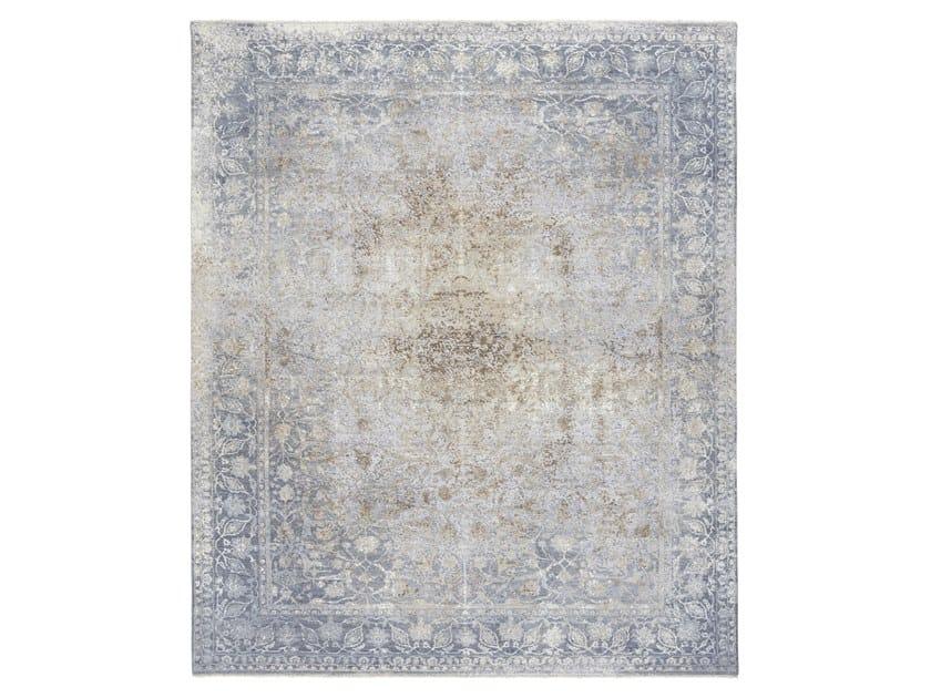 Handmade custom rug ANCIENT 4 BROWN GREY by Thibault Van Renne