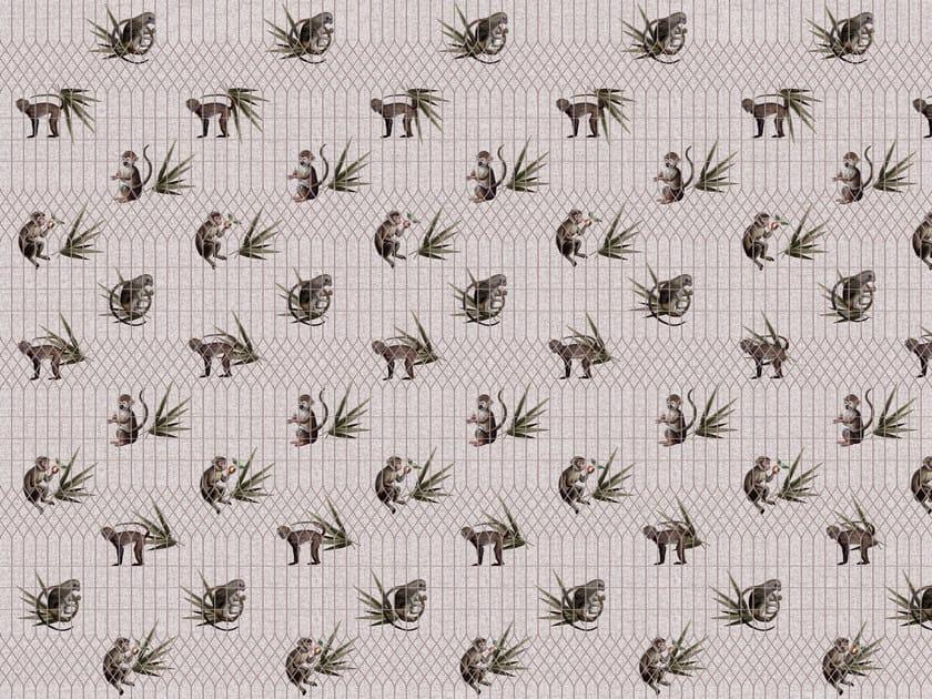 Wallpaper / floor wallpaper ANCIENT NATURE MONKEYS by Texturae