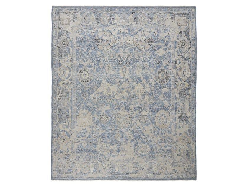 Handmade custom rug ANCIENT VIRUSH K32 LT BLUE by Thibault Van Renne