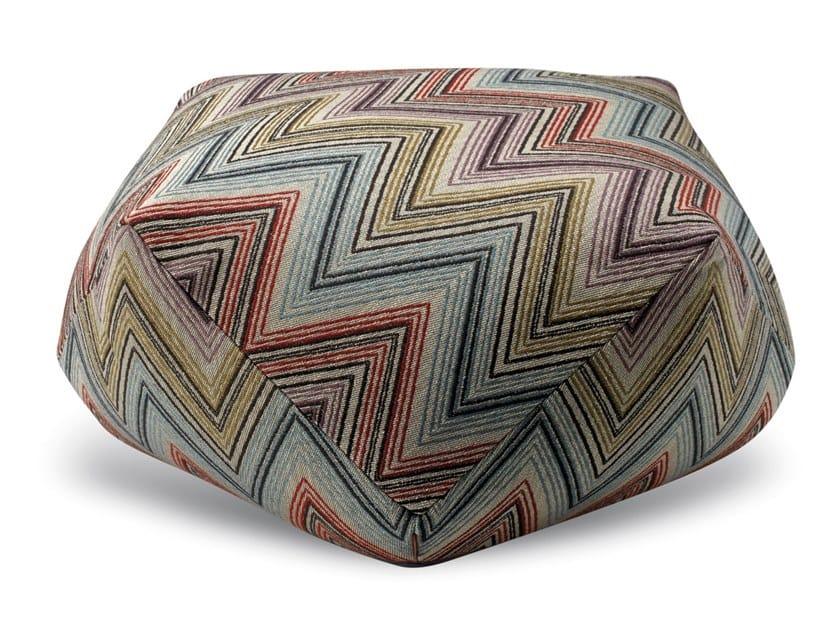 Pouf diamante in tessuto jacquard a sofisticate geometrie ANDAMANE | Pouf by MissoniHome