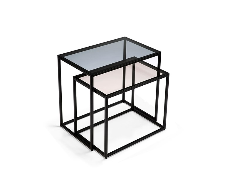 Rectangular glass coffee table ANDERS | Glass coffee table by Ethnicraft