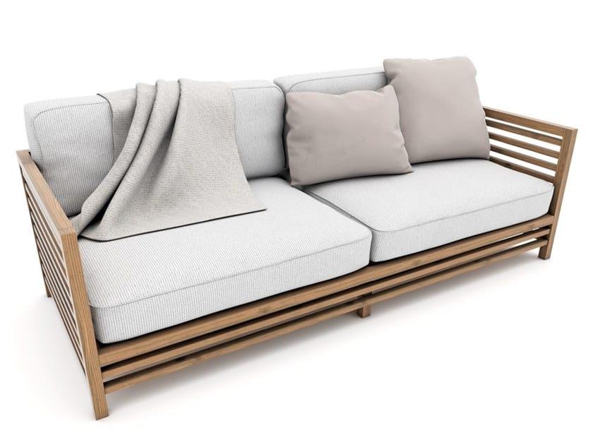 Divano da giardino a due posti in tessuto e legno ANDROMEDA | Divano da giardino by Zuri Design