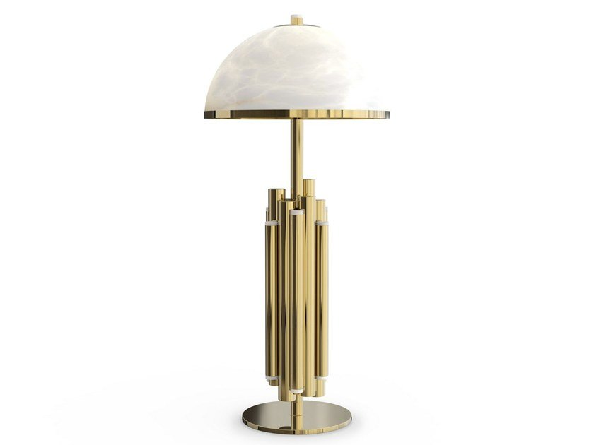 Brass table lamp with fixed arm ANDROS | Table lamp by Creativemary