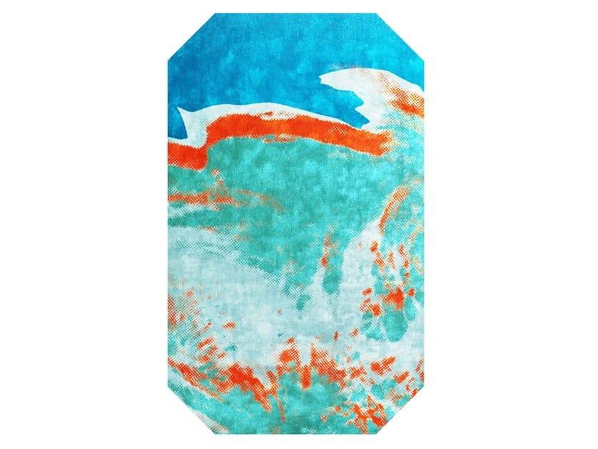 Handmade bamboo silk rug ANDY WARHOL - MAQUETTE 111 by HENZEL STUDIO