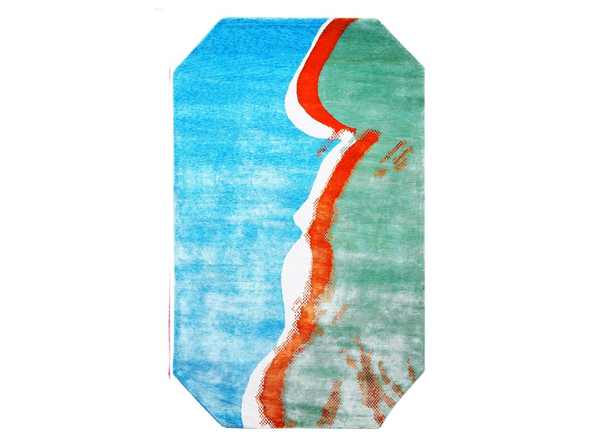Handmade bamboo silk rug ANDY WARHOL - MAQUETTE 126 by HENZEL STUDIO