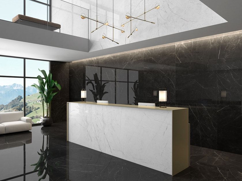 Porcelain wall/floor tiles with marble effect ANGEL by ITT Ceramic
