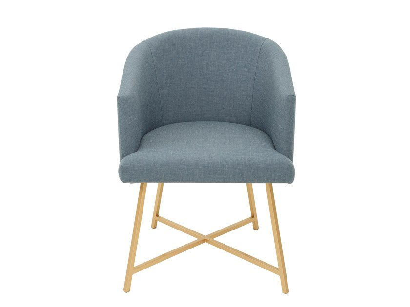 Metal and fabric chair with armrests ANGELINA | Metal chair by Conceito Casa