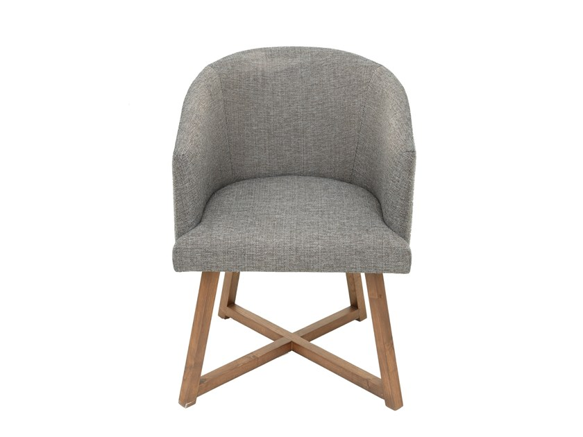 Fabric chair with armrests ANGELINA by Conceito Casa