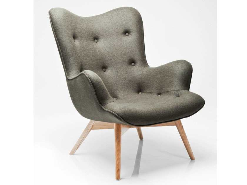 Fabric armchair with armrests ANGELS WINGS FOREST by KARE-DESIGN