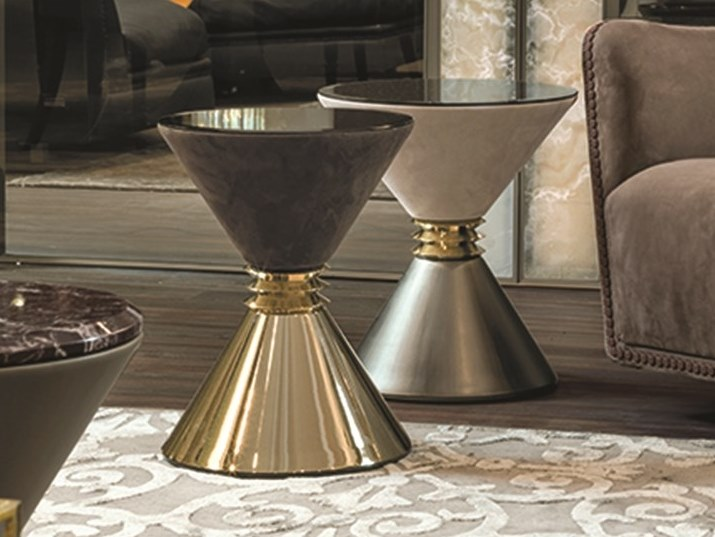 Tavolino rotondo da salotto ANGIE | Tavolino da salotto by Longhi