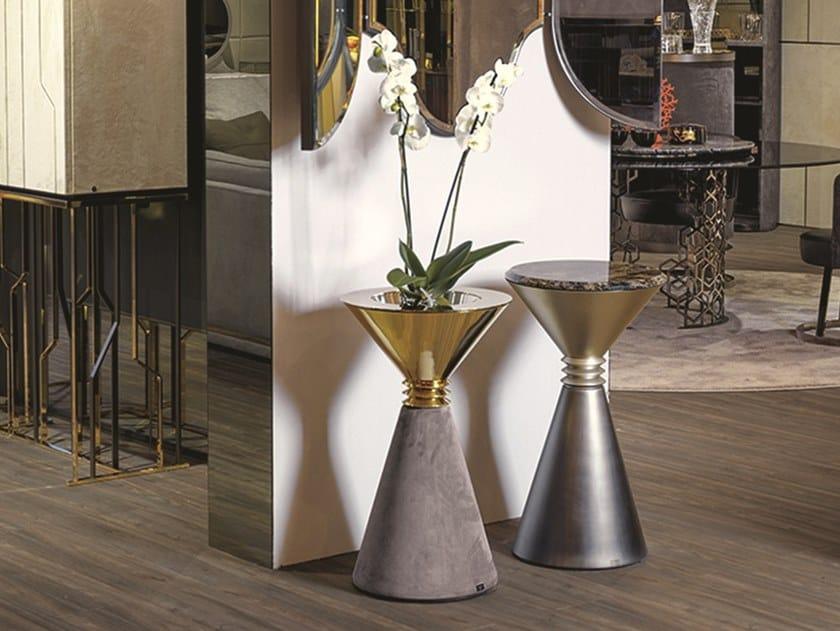 Tavolino / portavaso in metallo ANGIE | Tavolino con vaso by Longhi