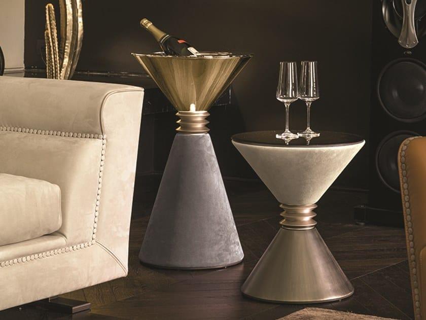 Tavolino in metallo con vano contenitore ANGIE | Tavolino con vano contenitore by Longhi