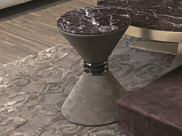 Leather coffee table for living room ANGIE | Leather coffee table by Longhi