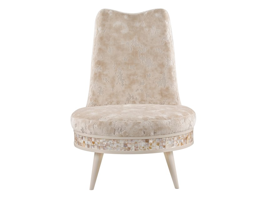High-back upholstered velvet armchair ANGOLA by Green Apple