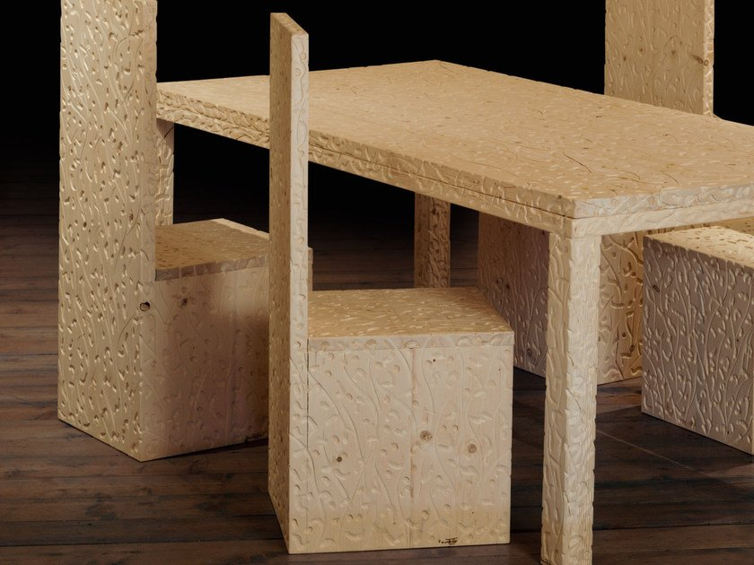 Wooden chair ANGOLO RETTO | Chair by Mirabili