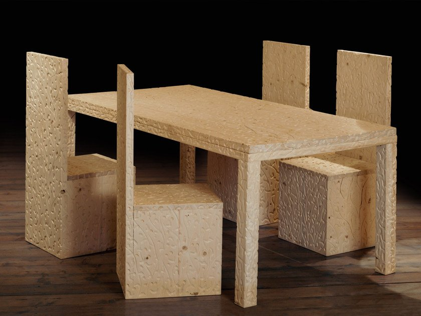 Rectangular wooden table ANGOLO RETTO | Table by Mirabili