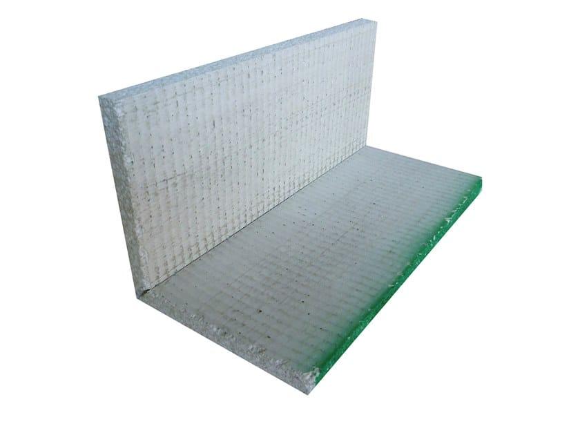 Lightweight cement cornice ANGOLO V 90°   Cement cornice by Biemme
