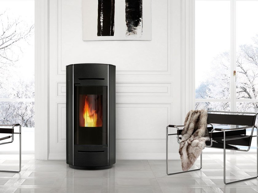 Pellet steel stove ANIA AIR TIGHT | Steel stove by EDILKAMIN