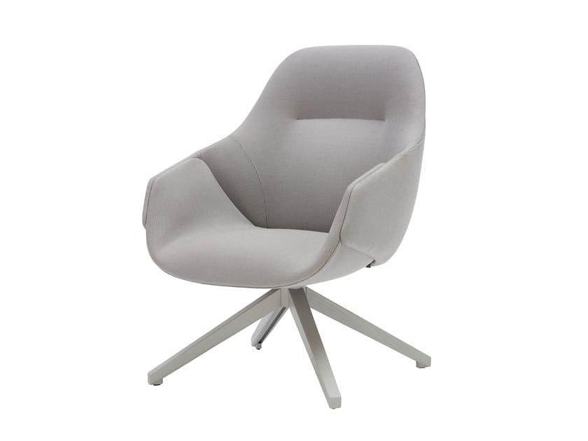 Swivel high-back fabric armchair ANITA | High-back armchair by SP01