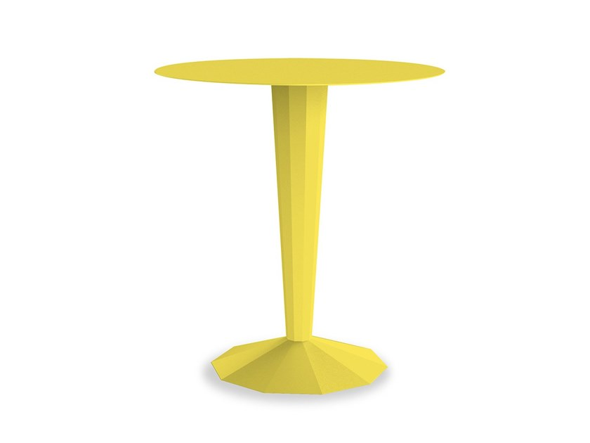 Round powder coated steel table ANKARA BISTROT | Round table by Matière Grise