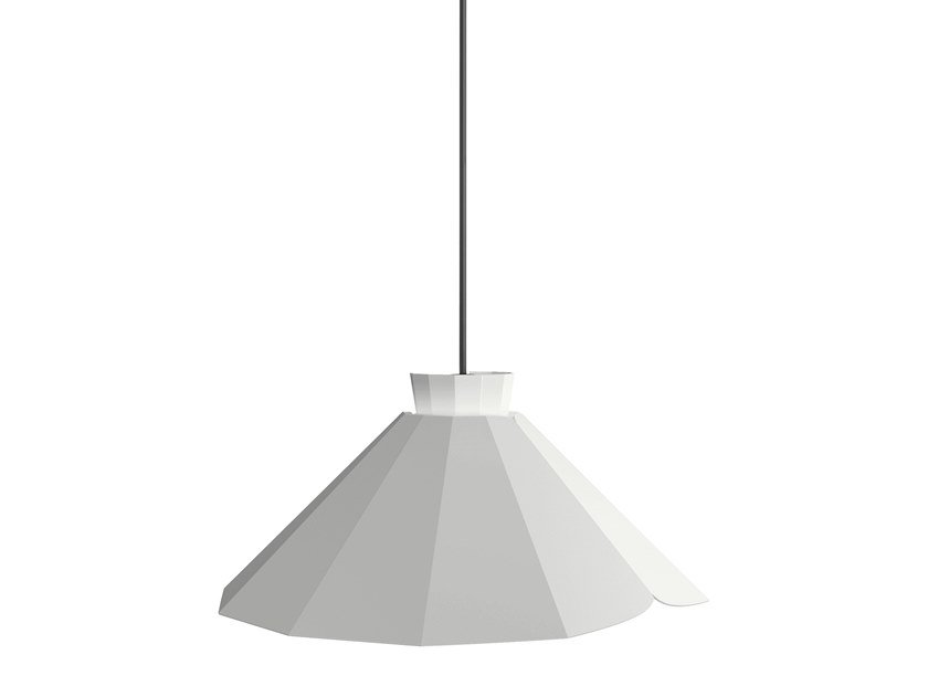 Powder coated steel pendant lamp ANKARA FLAT by Matière Grise
