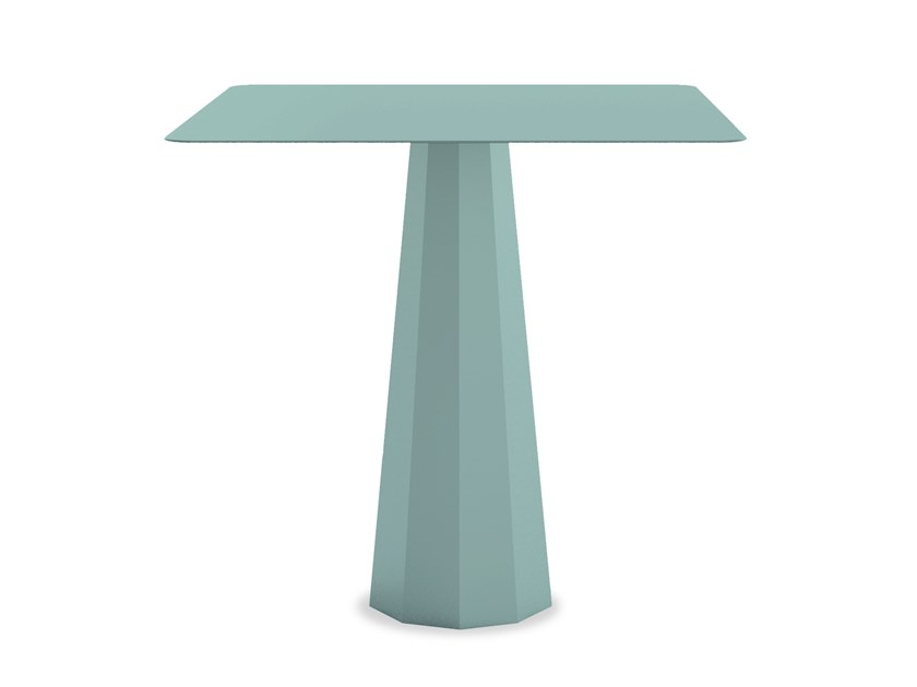 Square powder coated aluminium garden table ANKARA M | Garden table by Matière Grise