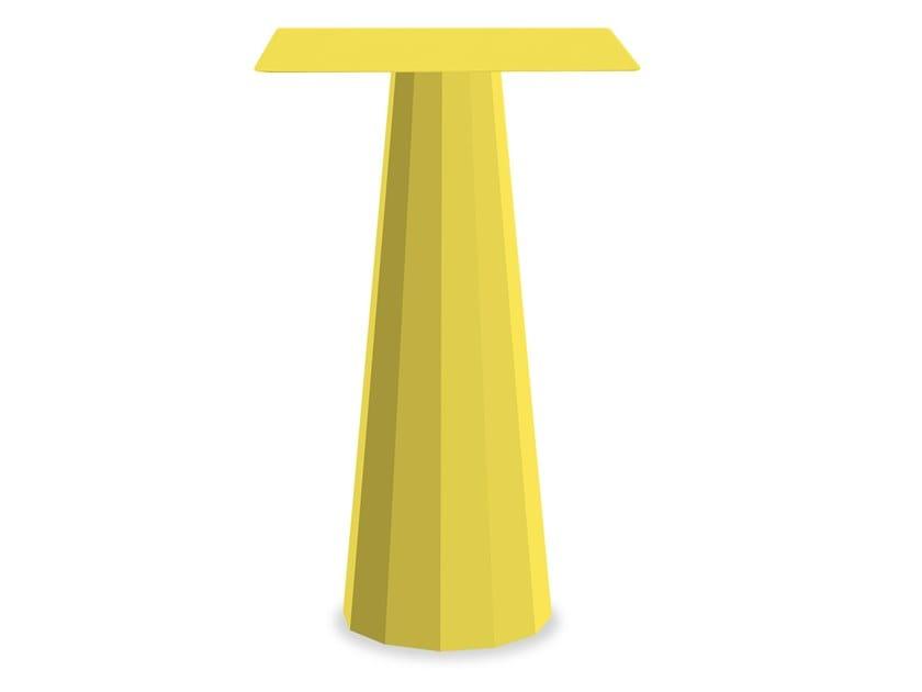 Square powder coated aluminium high table ANKARA | High table by Matière Grise