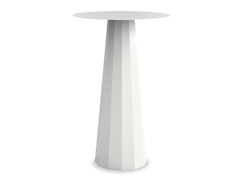 Round epoxy paint steel high table ANKARA | High table by Matière Grise