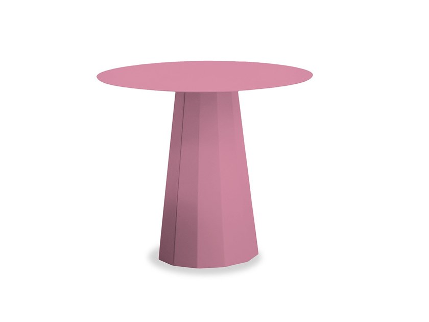 Round powder coated steel coffee table ANKARA LOUNGE | Round coffee table by Matière Grise
