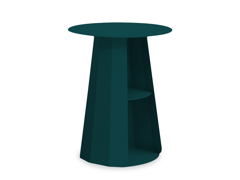 Round powder coated steel bedside table ANKARA | Round bedside table by Matière Grise