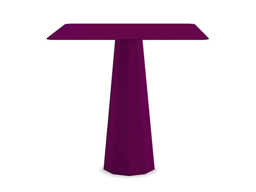 Square powder coated steel table ANKARA M | Table by Matière Grise