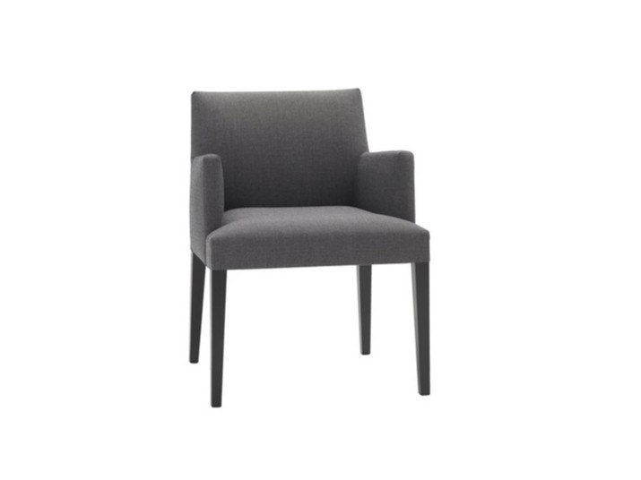 Upholstered fabric chair with armrests ANNA CORPORATE SO1406 by Andreu World
