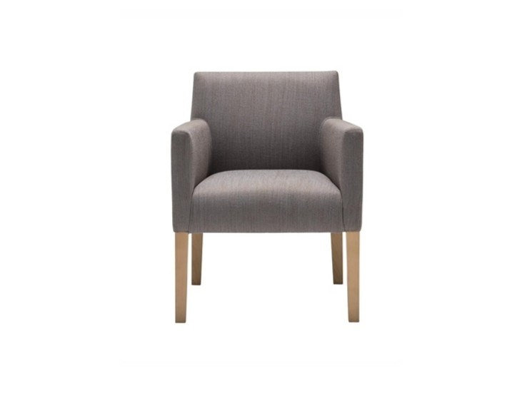 Upholstered fabric chair with armrests ANNA EASY CHAIR BU1405 by Andreu World